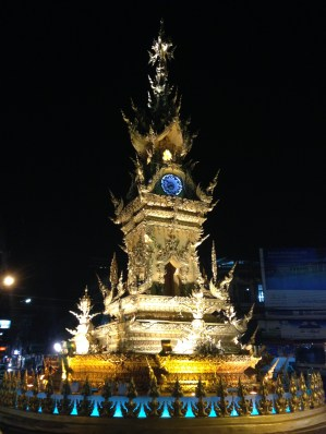 Clock tower, downtown Chiang Mai