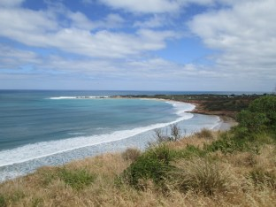 View close to the beginning of the Great Ocean Drive