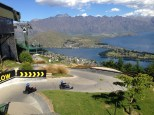 Gravity powered go-karts/luge-karts at the top of Queenstown Hill