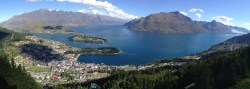 Queenstown from atop Queenstown Hill - Jon biked up vs. taking chairlift