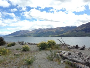 Lake Wanaka from far up, on the drive coming into town