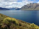Lake Hawea, next to Lake Wanaka, on the drive into town