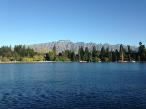 View of the Remarkables from our hostel