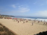 Less crowded beach outside of Vina del Mar