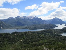 "View from a summit along the ""Circuito Chico"", or ""Small Circuit"" in Bariloche"