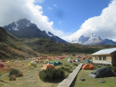 Paine Grande campsite - really, really windy that night!