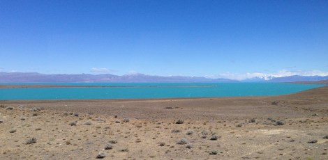 Drive from El Calafate to El Chaltan - amazing blue/green, glacial fed rivers