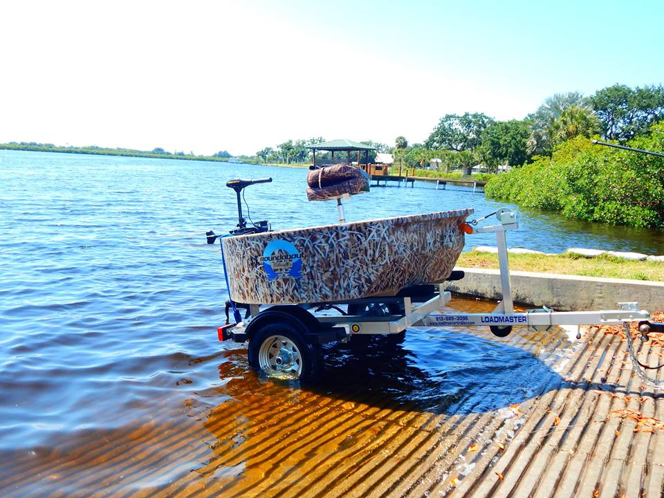 Boat with 2 seat upgrade minn kota trailer for Round fishing boat