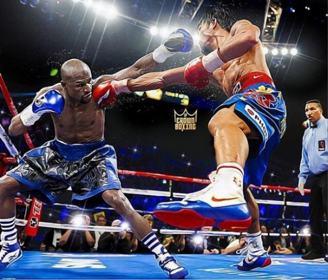 """Mayweather-Pacquiao1 Mayweather Defeats Pacquiao And Remains Undefeated. Pacquiao Says: """"I Thought I Won The Fight"""""""
