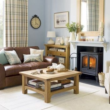 Cool brown and blue living room designs (10)