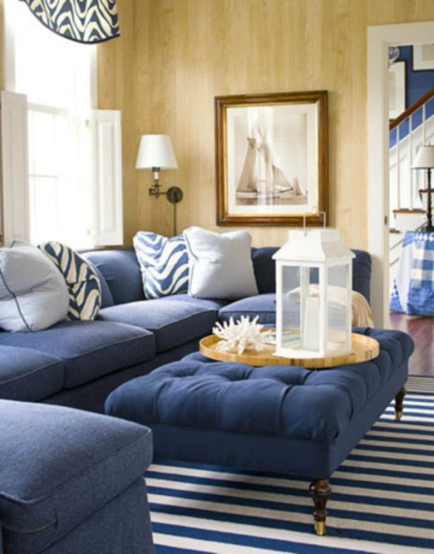 Cool brown and blue living room designs (14)