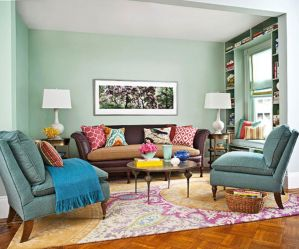 Cool brown and blue living room designs (17)