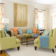 Cool brown and blue living room designs (18)