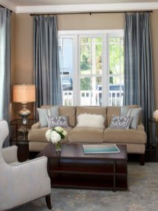 Cool brown and blue living room designs (21)