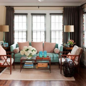Cool brown and blue living room designs (24)
