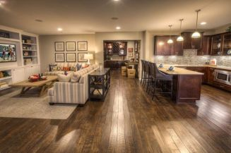 Cool brown and blue living room designs (27)