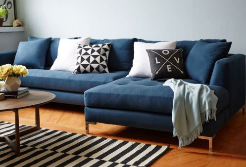 Cool brown and blue living room designs (6)