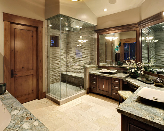 Cool ideas to use big mirrors in your bathroom (27)