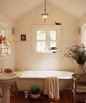 Cozy and relaxing farmhouse bathroom designs (26)
