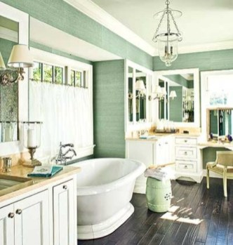 Cozy and relaxing farmhouse bathroom designs (27)