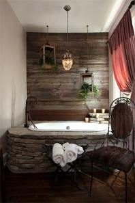 Cozy and relaxing farmhouse bathroom designs (8)