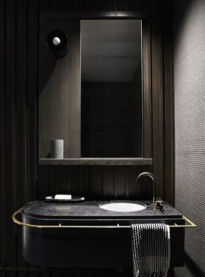 Dark moody bathroom designs that impress (16)