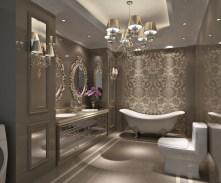 Dark moody bathroom designs that impress (21)