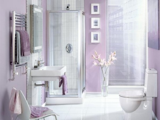 Delicate feminine bathroom design ideas (19)