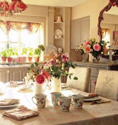 Elegant feminine dining room design ideas (4)
