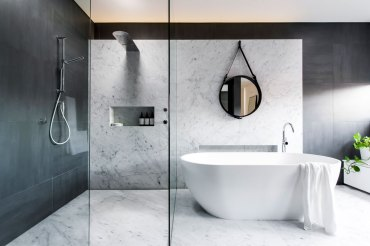 Luxurious marble bathroom designs (13)