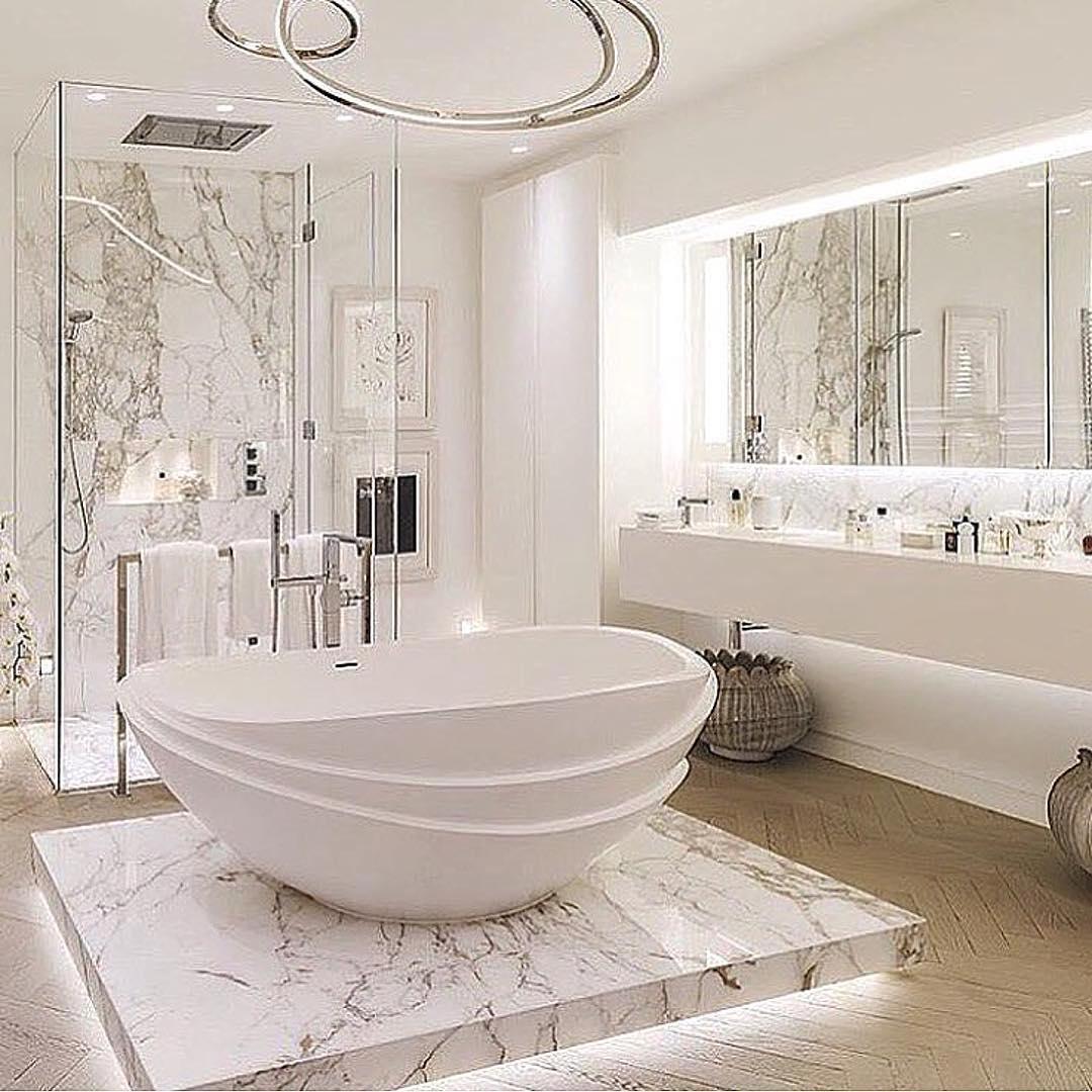Luxurious marble bathroom designs 23  ROUNDECOR