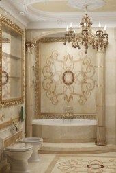 Luxurious marble bathroom designs (25)