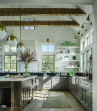 Modern farmhouse kitchen design ideas 24