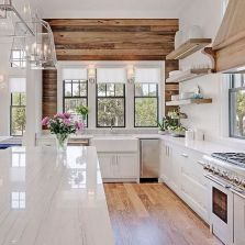 Modern farmhouse kitchen design ideas 44
