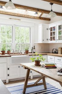 Modern farmhouse kitchen design ideas 48