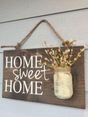Simple diy rustic home decor ideas 16