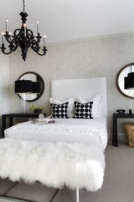 Stylish stylish black and white bedroom ideas (16)