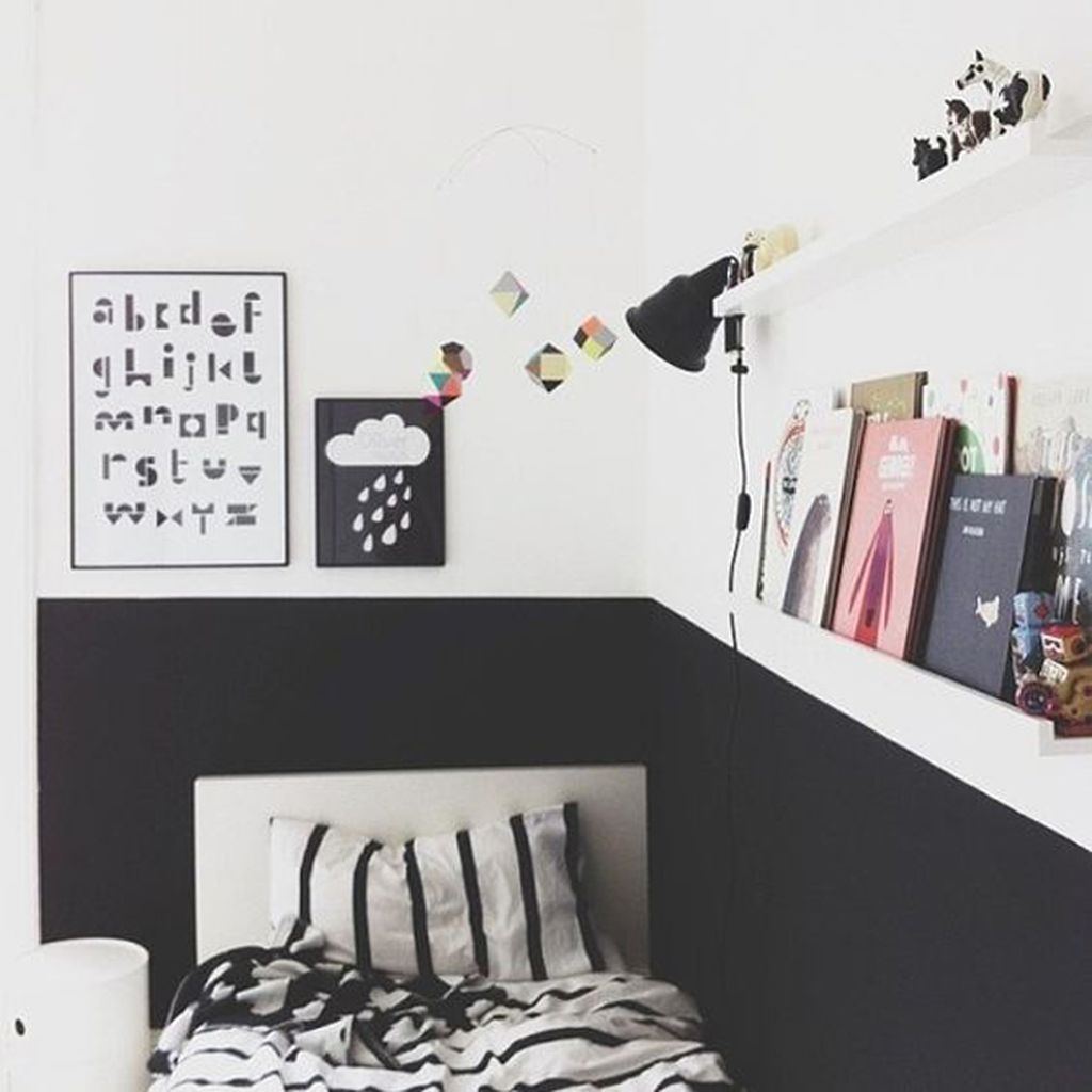 Stylish stylish black and white bedroom ideas (2)