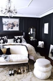 Stylish stylish black and white bedroom ideas (41)