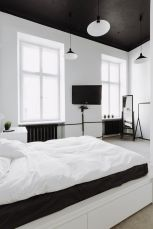 Stylish stylish black and white bedroom ideas (44)