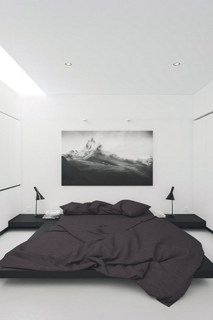 Stylish stylish black and white bedroom ideas (50)