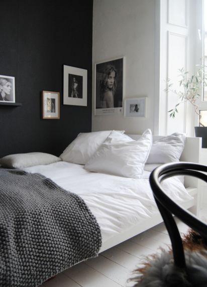Stylish stylish black and white bedroom ideas (54)