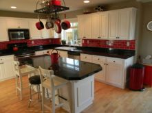 Amazing black and red kitchen decor 17