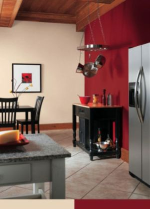 Amazing black and red kitchen decor 22