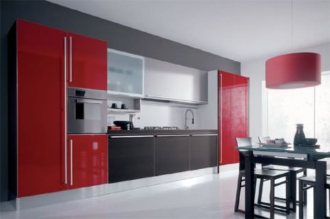Amazing black and red kitchen decor 27
