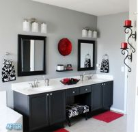 Amazing black and red kitchen decor 34