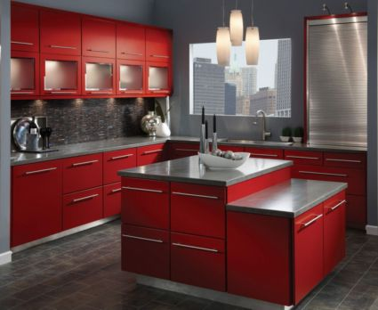 Amazing black and red kitchen decor 36