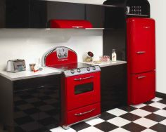 Amazing black and red kitchen decor 39