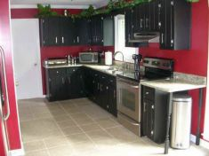 Amazing black and red kitchen decor 40