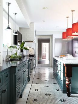 Amazing black and red kitchen decor 54
